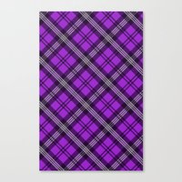 Scottish Plaid (Tartan) - Purple Canvas Print