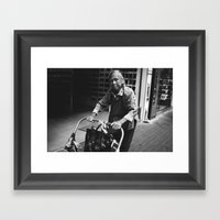 Identity of Hong Kong (B&W) Framed Art Print
