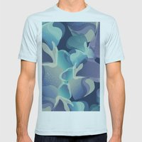 Micro Blue Mens Fitted Tee Light Blue SMALL