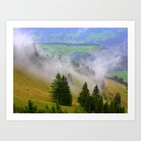 Up The Mountain Art Print