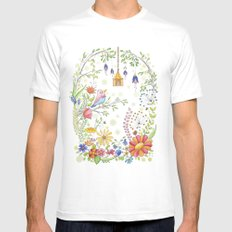 garden and bird Mens Fitted Tee White SMALL