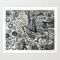 Black/White #2 Art Print