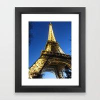 Eiffel - Night Framed Art Print