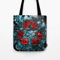 Recycle World - Blue Tote Bag