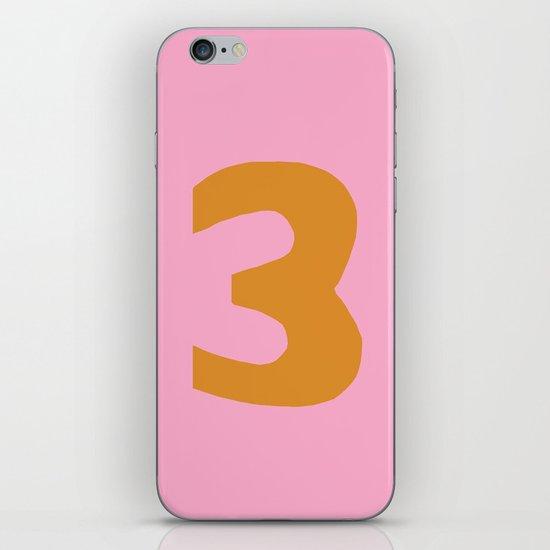 Number 3 iPhone & iPod Skin
