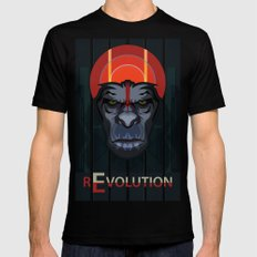 Dawn of the Apes Mens Fitted Tee Black SMALL