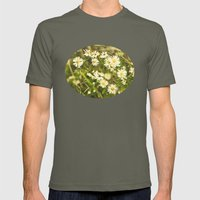 Daisies in Autumn Mens Fitted Tee Lieutenant SMALL