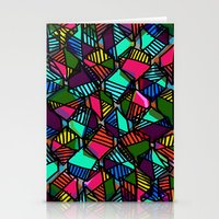 Overlaid Hexagons Stationery Cards