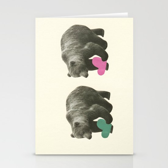 A Bear Romance Stationery Card