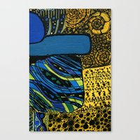 town by the ocean Canvas Print