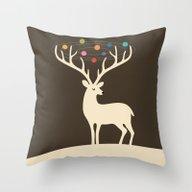 My Deer Universe Throw Pillow