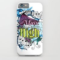 Music Makes Me High iPhone 6 Slim Case