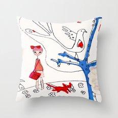 happy 2 Throw Pillow