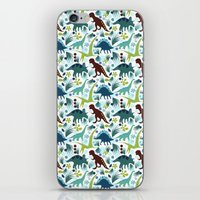 Dinosaur Days (Smaller Print) iPhone & iPod Skin