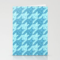 Squid Houndstooth Stationery Cards