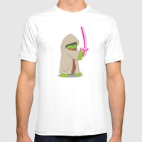 Master Jedi Mens Fitted Tee White SMALL