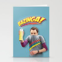 Sheldon  - BAZINGA! Stationery Cards
