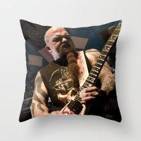 Kerry King of Slayer Throw Pillow
