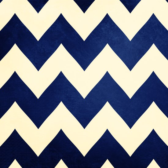 Fleet Week - Navy Chevron Art Print
