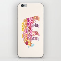 Bear in Different Languages iPhone & iPod Skin