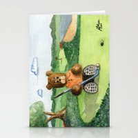 Golfer Bear Stationery Cards
