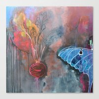 beet and butterfly Canvas Print