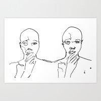 Double Line Art Print