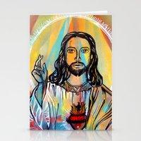 jesus Stationery Cards featuring Jesus by Lina Caro Design