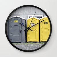 Odd Man Outhouse Wall Clock