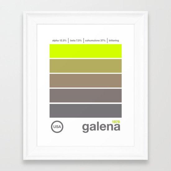 galena//single hop Framed Art Print