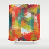 Transparent Cubism Shower Curtain