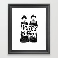 Votes For Women Framed Art Print