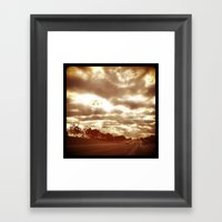 Sunday Morning Drive To … Framed Art Print