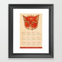Vampire Cat Calendar  Framed Art Print