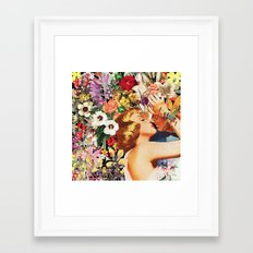 Floral Bed Framed Art Print