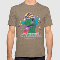 Clevergirl Mens Fitted Tee Tri-Coffee SMALL