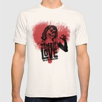 Zombie Love Mens Fitted Tee Natural SMALL