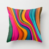 Lov Colors Throw Pillow