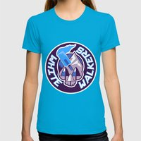 WW HOCKEY LOGO Womens Fitted Tee Teal SMALL