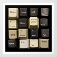 Custom Keyboard Art Print