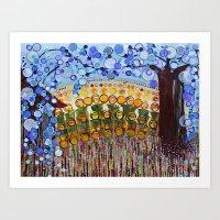 :: Indiana Blue Willow :… Art Print