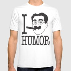 I __ Humor White SMALL Mens Fitted Tee