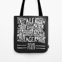 Beer : Black Tote Bag