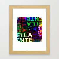 Like words which suggest yet elude their function. [RGB] Framed Art Print