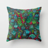 The Audience.  Throw Pillow