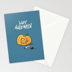 Lazy Halloween Stationery Cards