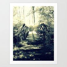Shadow Bridge Art Print