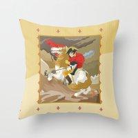 Napoleon Crossing The Al… Throw Pillow