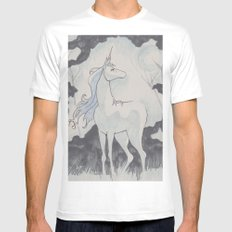 The Last Unicorn Mens Fitted Tee White SMALL