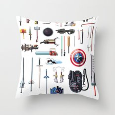 Famous Weapons Throw Pillow